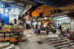 Atmospheric streets of Jerusalem, Middle East Royalty Free Stock Images