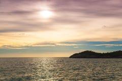 Atmospheric sunset. Royalty Free Stock Image