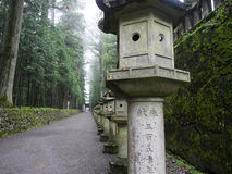 Atmospheric temple pathway. An atmospheric pathway in Niko, Japan Royalty Free Stock Photo