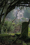 Atmospheric view of churchyard. Stock Images