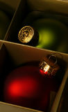 Atmospheric xmas ornaments Stock Photography