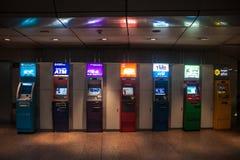 ATMs em um metro fotografia de stock