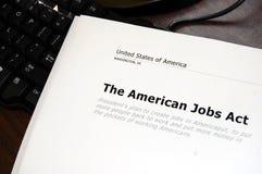 Ato americano dos trabalhos Foto de Stock