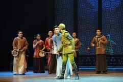 Ato da curiosidade- da Dinamarca o Zuo japonês do exército o terceiro de eventos do drama-Shawan da dança do passado Fotografia de Stock