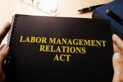 Ato das relações de gestão Labor imagens de stock