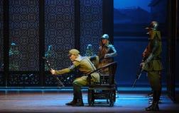 Ato japonês da Dinamarca Zuo-The do exército o terceiro de eventos do drama-Shawan da dança do passado Foto de Stock