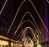 Atocha освещает украшение на улице рождества в Мадриде Стоковые Фотографии RF