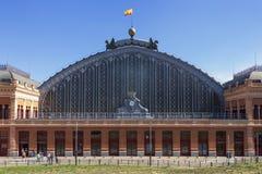 Atocha railway station in Madrid. Façade of the Atocha railway station in Madrid, Spain stock photos