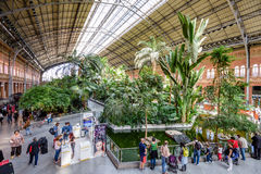 Atocha Station in Madrid Stock Photo