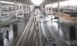 Panorama Madrid Station Stock Photo