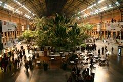 Atocha railway station in Madrid Stock Image