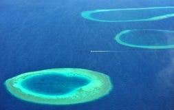 Atolón de Maldives Fotografía de archivo libre de regalías