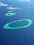 Atolón de Maldives fotografía de archivo