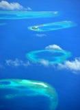 Atolón de Maldives Foto de archivo libre de regalías