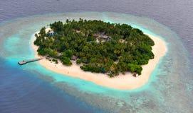Atolón de Maldives Foto de archivo