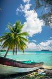 Atolón de Rangiroa, Polinesia francesa imagen de archivo libre de regalías
