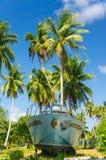 Atolón de Rangiroa, Polinesia francesa imágenes de archivo libres de regalías