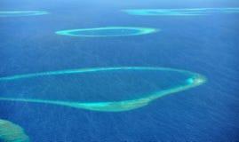 Atolón en Maldives fotos de archivo