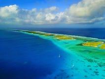 Atol w Marshall wyspach fotografia royalty free