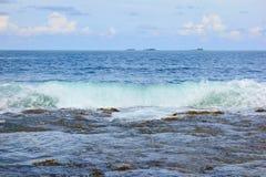 Atol w Pacyficznym oceanie fotografia royalty free