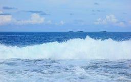 Atol w Pacyficznym oceanie zdjęcie stock