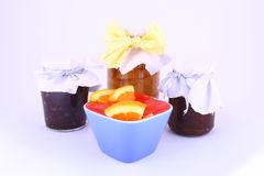 Atolamento das frutas Fotos de Stock