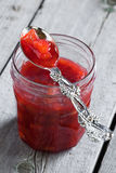 Atolamento do Rhubarb Fotografia de Stock Royalty Free