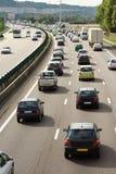 Atolamento do trânsito intenso Imagens de Stock Royalty Free