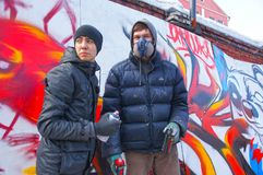 Atolamento dos grafittis Fotografia de Stock Royalty Free
