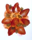 Atolamento fresco da morango e do rhubarb Imagens de Stock