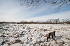 Atolamentos do gelo no rio do Mohawk Imagens de Stock Royalty Free