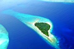 Atoll d'Addu ou Seenu Atoll, le sud la plupart d'atoll des îles des Maldives Image stock