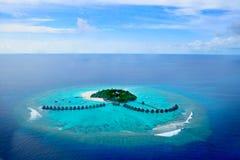 Atoll d'Addu ou Seenu Atoll, le sud la plupart d'atoll des îles des Maldives Images stock