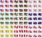Atoll de bikini, Kenya, débardeur, République tchétchène d'Ichkeria, Sahara occidental, Îles Caïman, Kalmoukie, Pérou, Groenland  Image stock