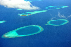 Atoll de Maldives Imagem de Stock Royalty Free