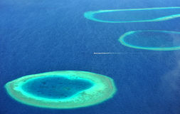Atoll des Maldives photographie stock libre de droits