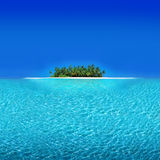 Atoll Holiday Resort. Atoll Islands with Tropical Beach Royalty Free Stock Photography