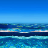 Atoll Islands. With Tropical Beach Stock Images