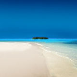 Atoll Islands. With Tropical Beach Royalty Free Stock Images