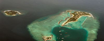 Atoll in Maldives Stock Image