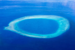 Atoll in the Maldives, Eden on Earth stock image