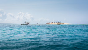 Atoll near Zanzibar Royalty Free Stock Images