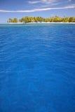 Atoll Rangiroa island. Secluded sandy beach on famous travel destination Atoll Rangiroa. French Polynesia Royalty Free Stock Images
