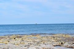 Atoll in the Sea Stock Photo