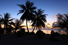 Atoll at Twilight Stock Image