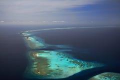 Atolle der Maldives stockfoto