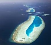 Atolle der Maldives stockfotos
