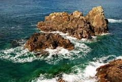 Atollen in de Vreedzame oceaan Stock Foto