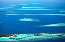 Atollen van de Maldiven Stock Foto