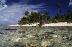 atollfransman polynesia Arkivfoton